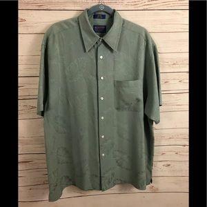 Vintage Pendleton Silk Short Sleeve Shirt Large